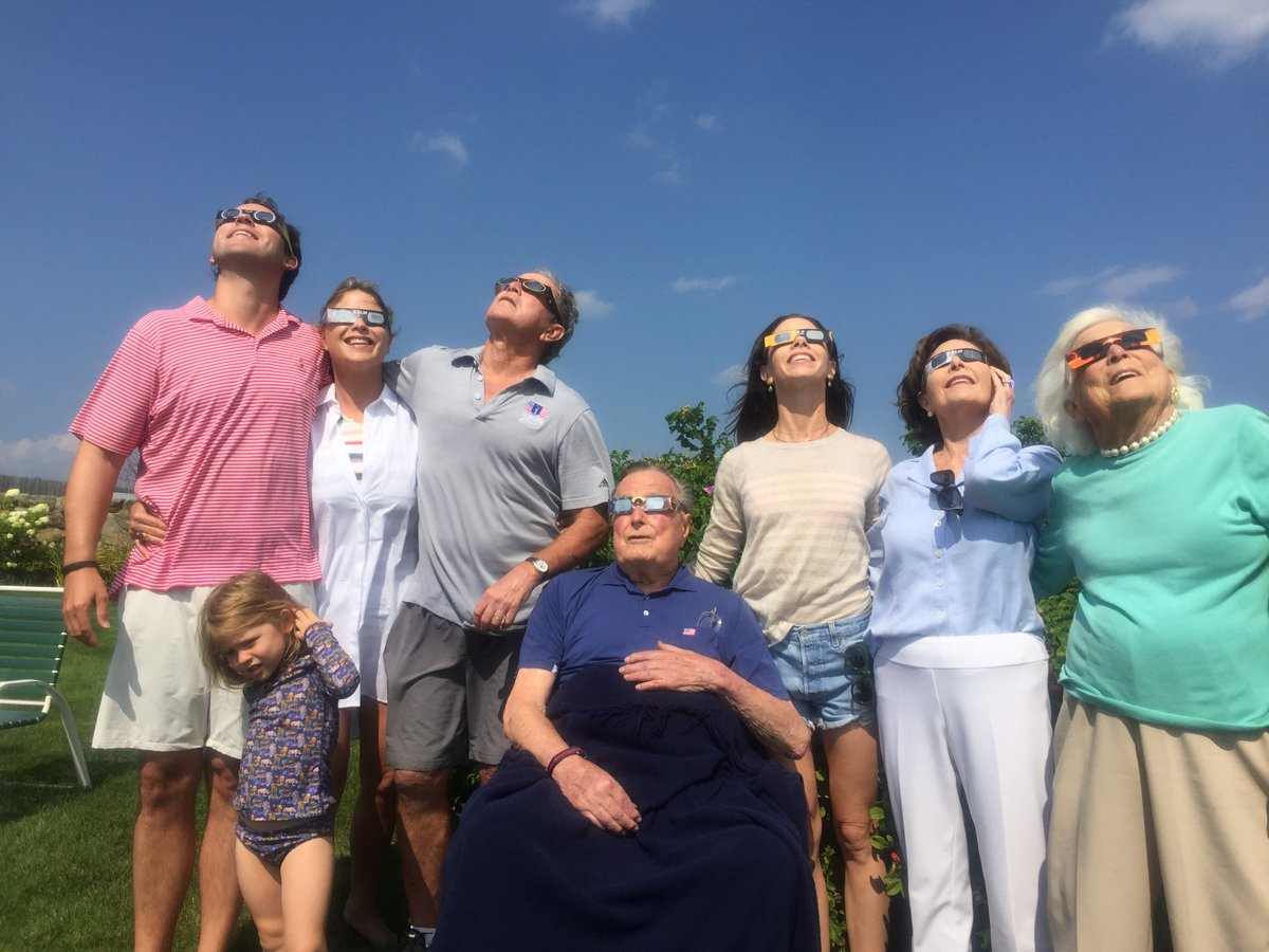 Bush Family Eclipse Photo