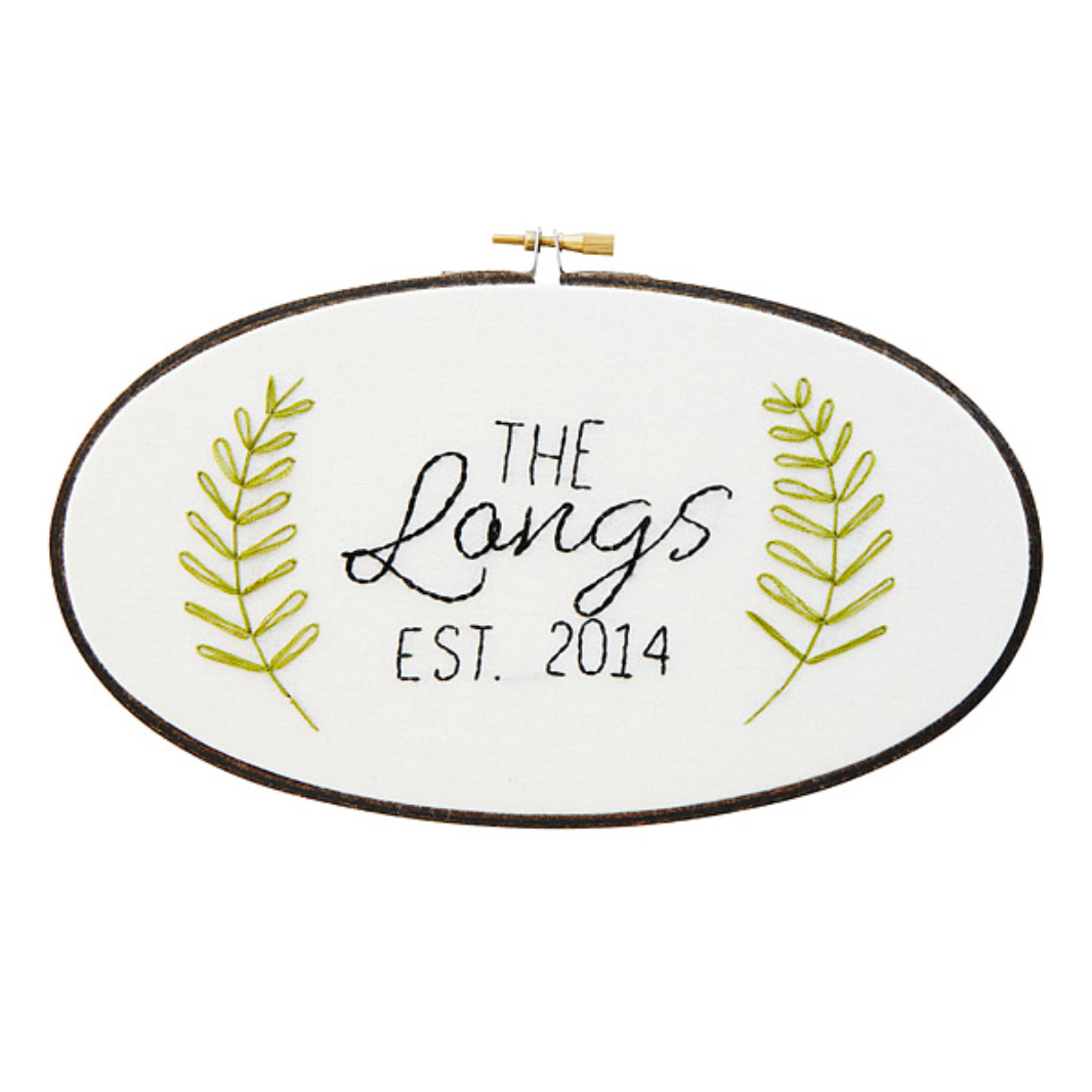 Family Name Embroidery