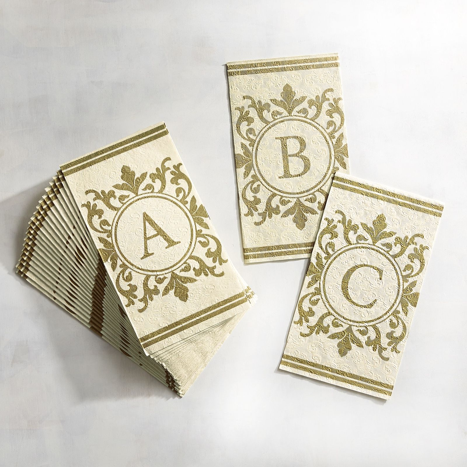 Initial Paper Buffet Napkins