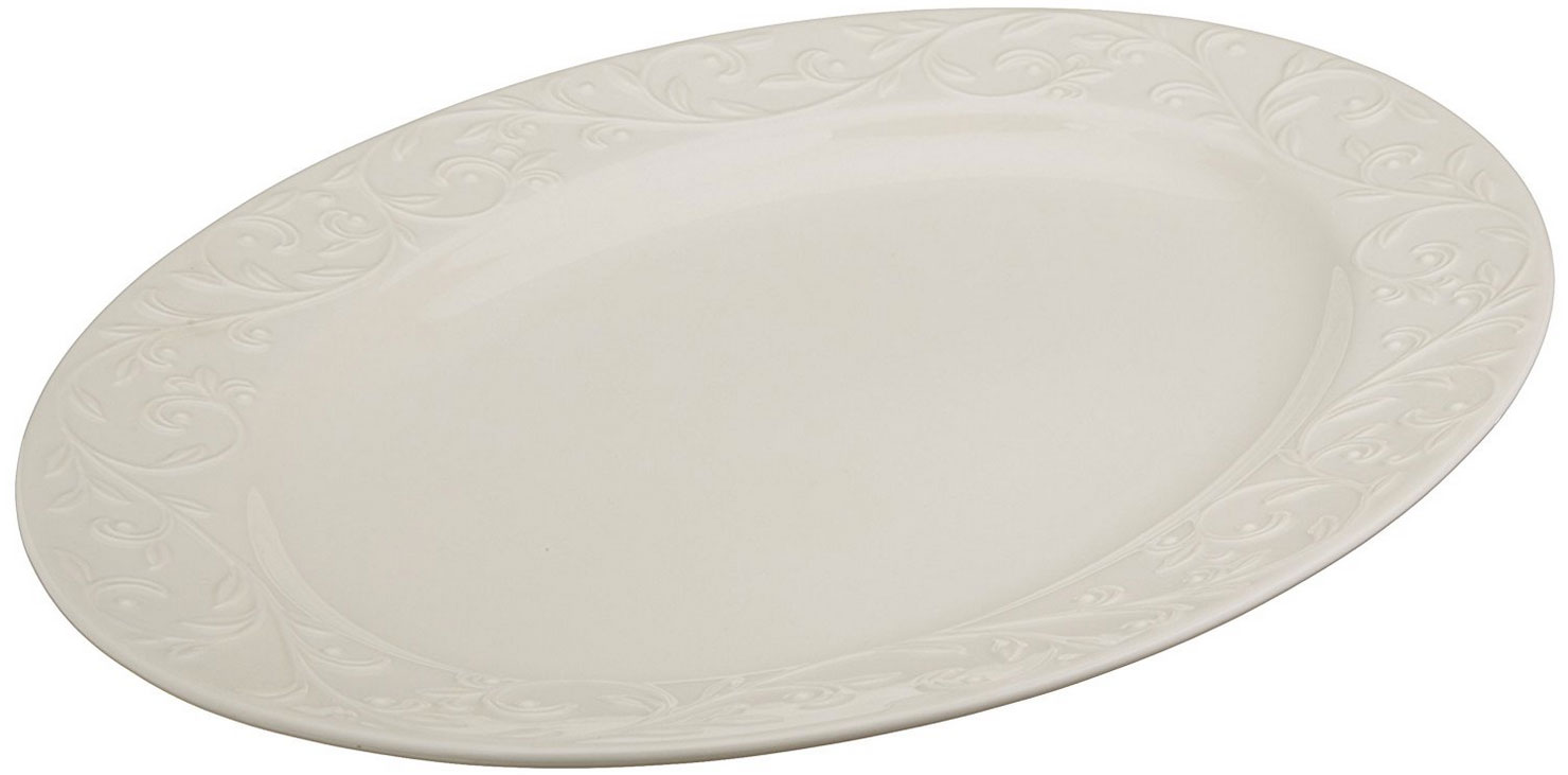 Leonx Opal Innocence Carved Large Oval Platter