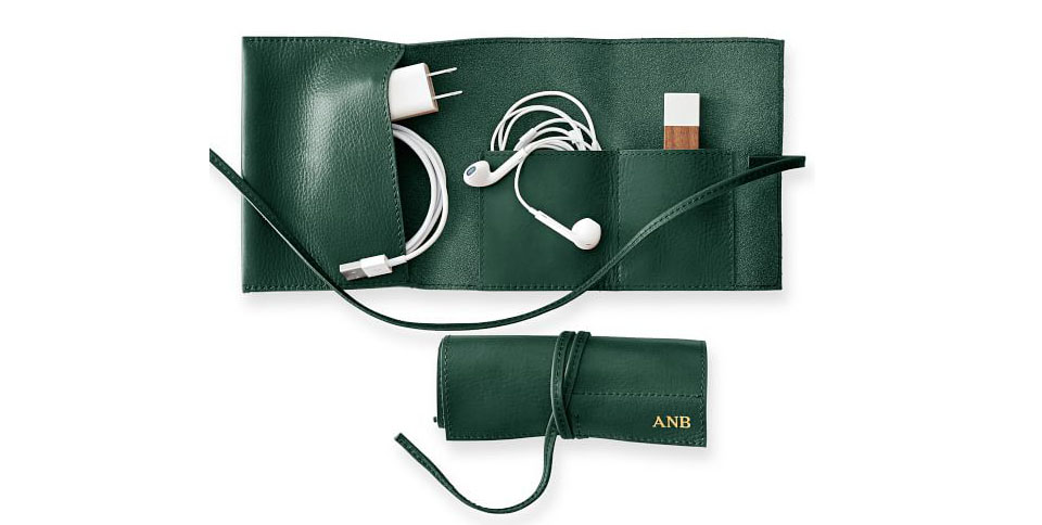 Leather Charger Roll Up