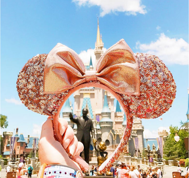 Disney Rose Gold Minnie Ears