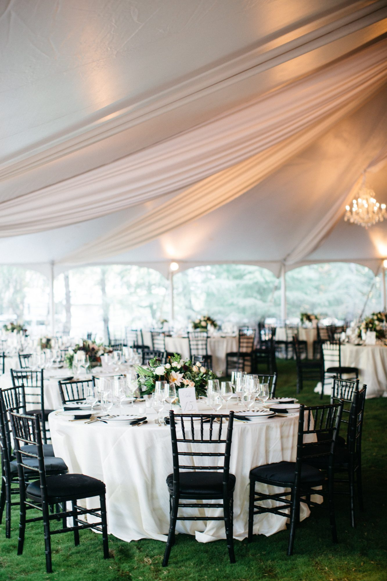 Tented Lawn Wedding Table