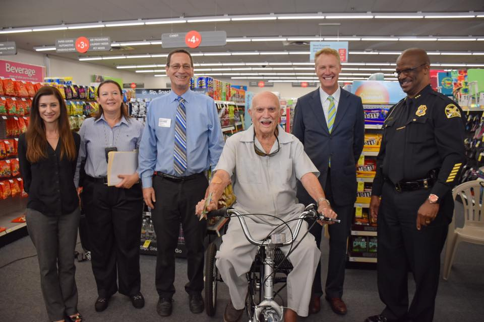 florida man presented with new tricycle