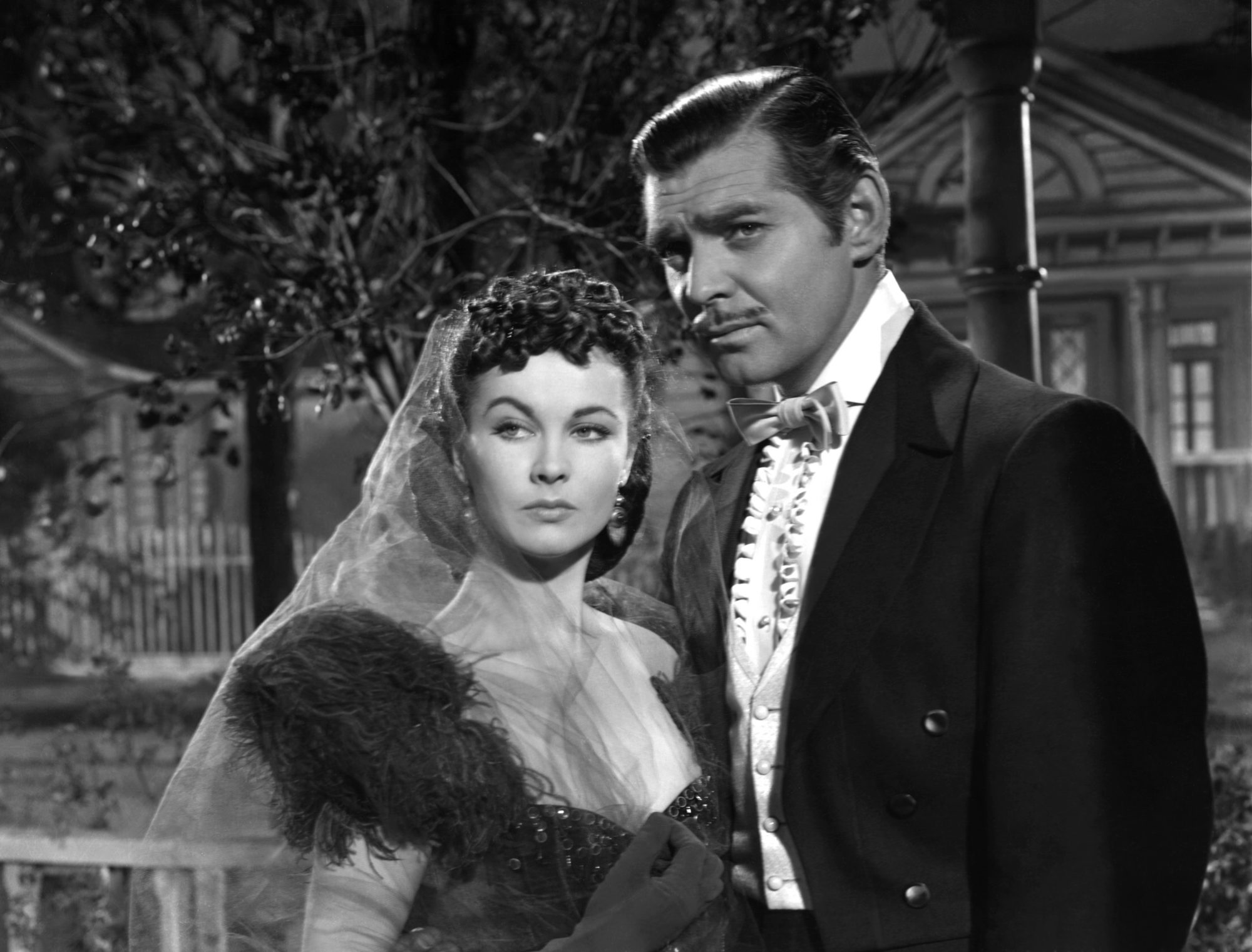 Vivien Leigh and Clark Gable on Set of Gone with the Wind