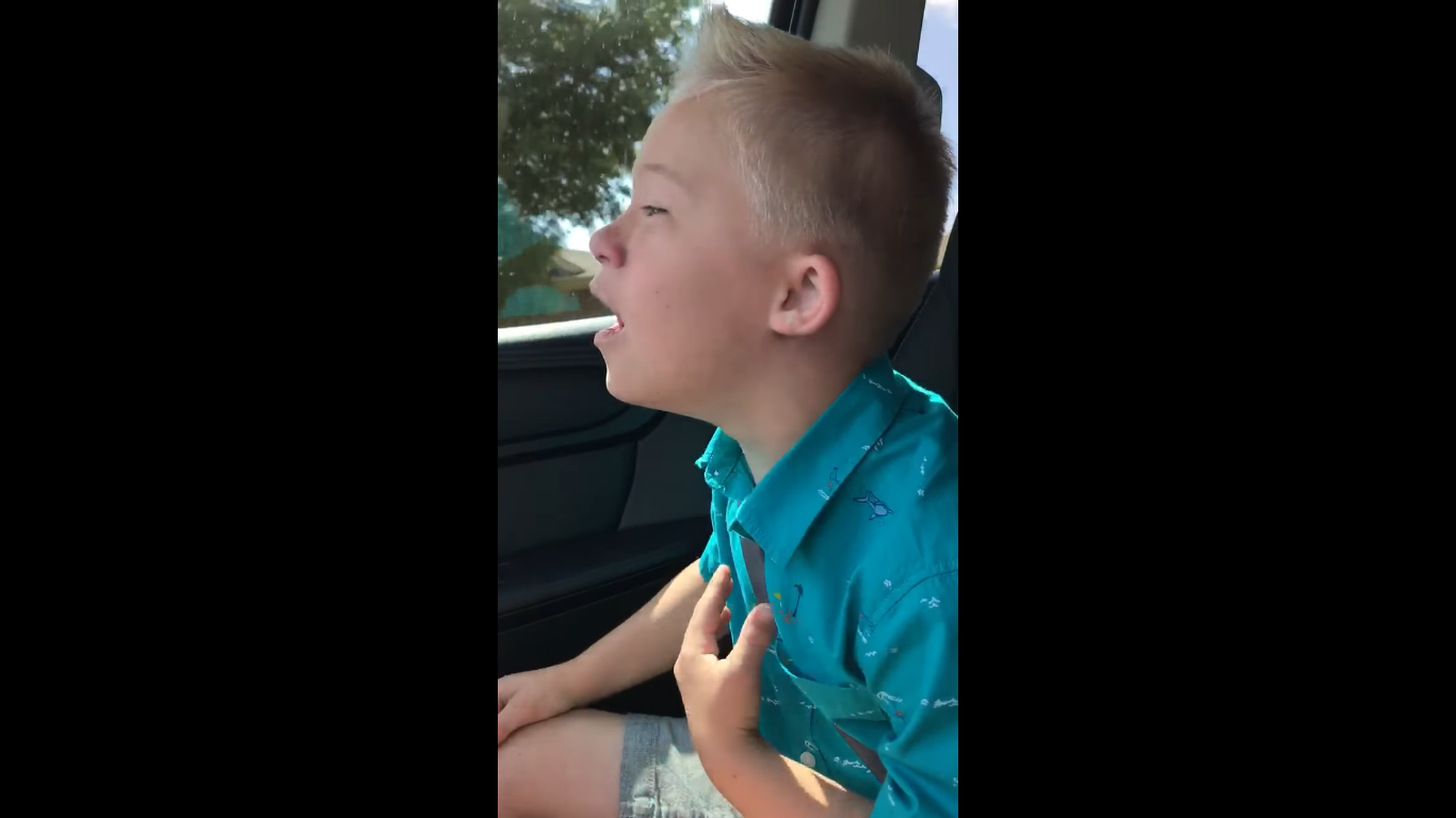 little boy sings Whitney Houston