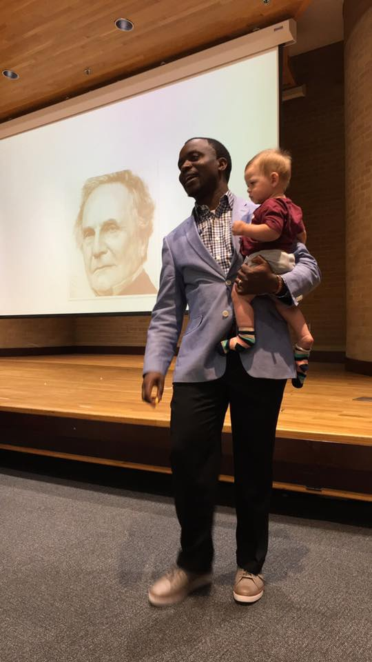 Texas professor holds baby