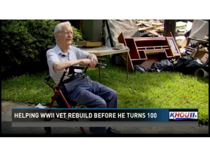 Hurricane Harvey World War II Veteran