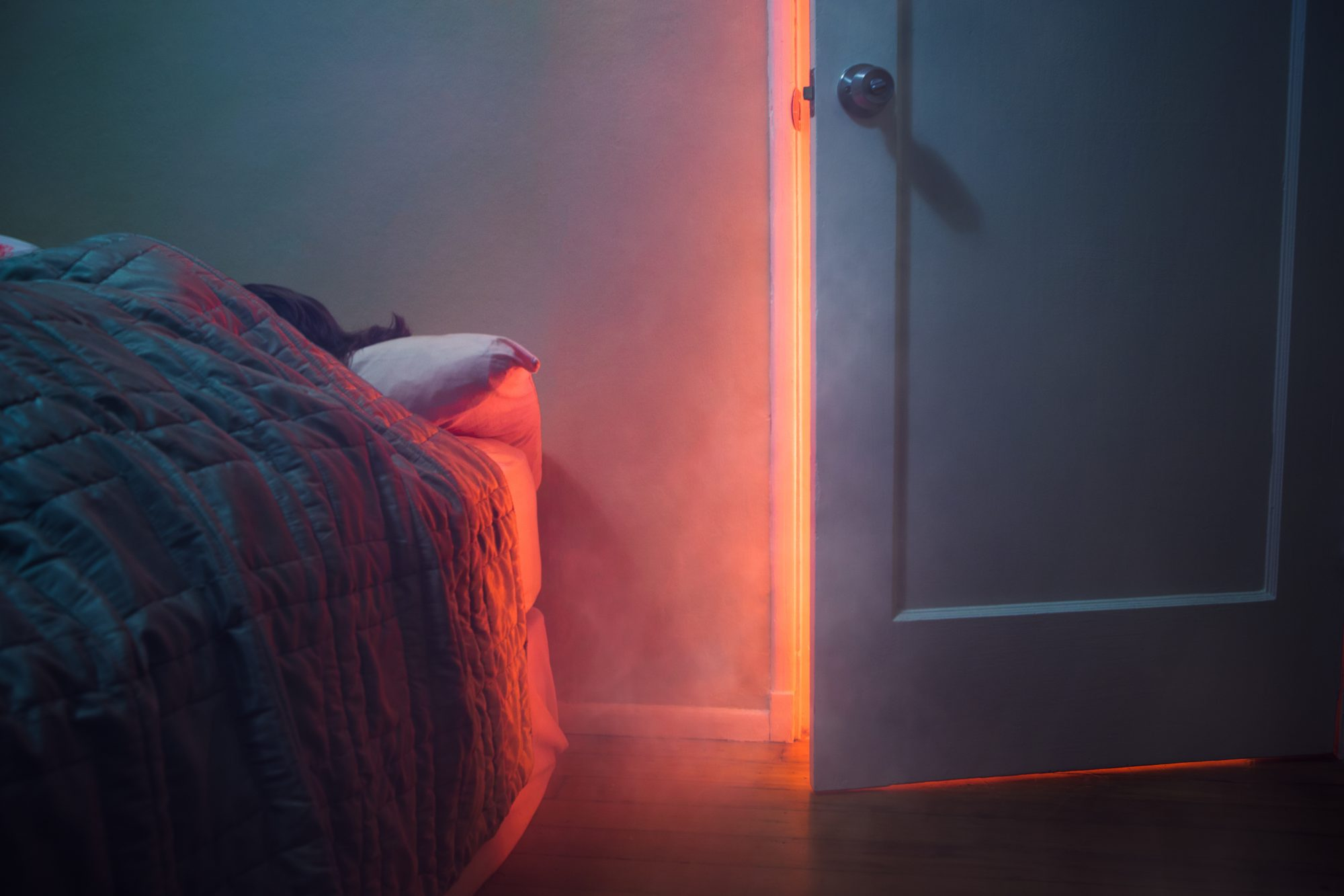 Fire Visible Through Bedroom Door