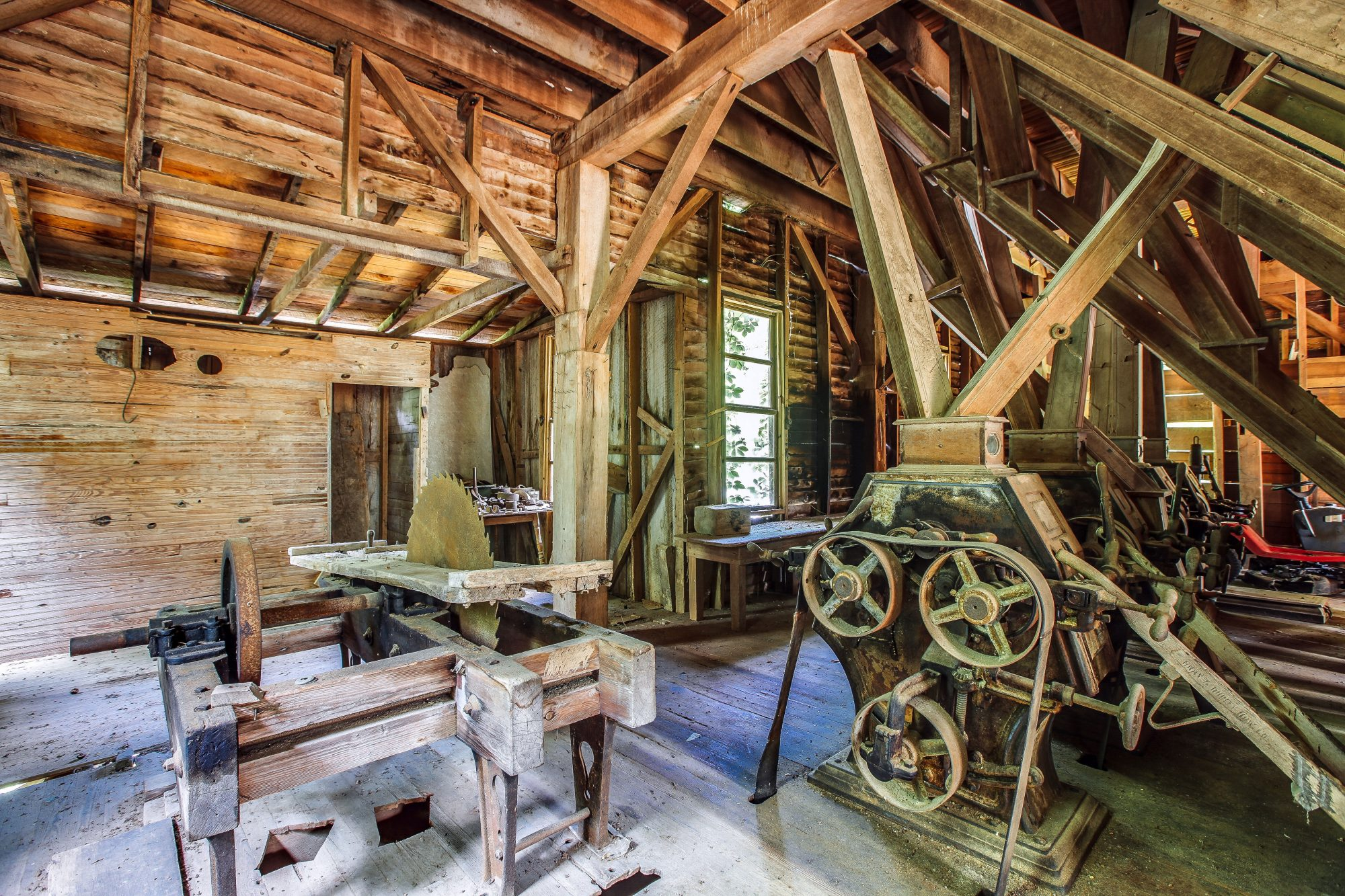 Inside of Gristmill Fall River Tennessee