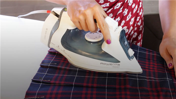 Ironing Pleats with Bobby Pins