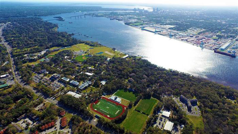 Campus View of Jacksonville University Hurricane Irma