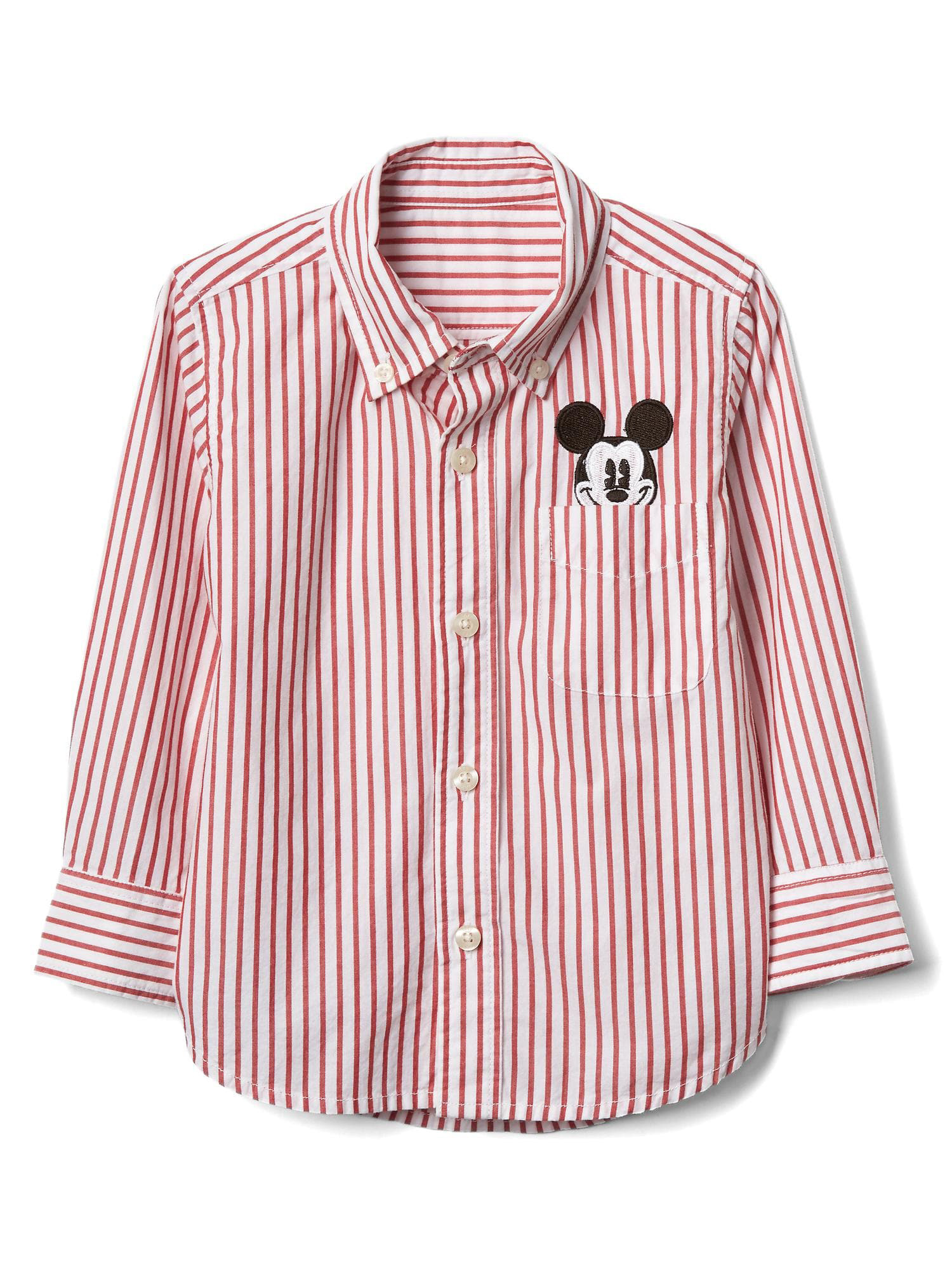 Baby Mickey Mouse stripe shirt
