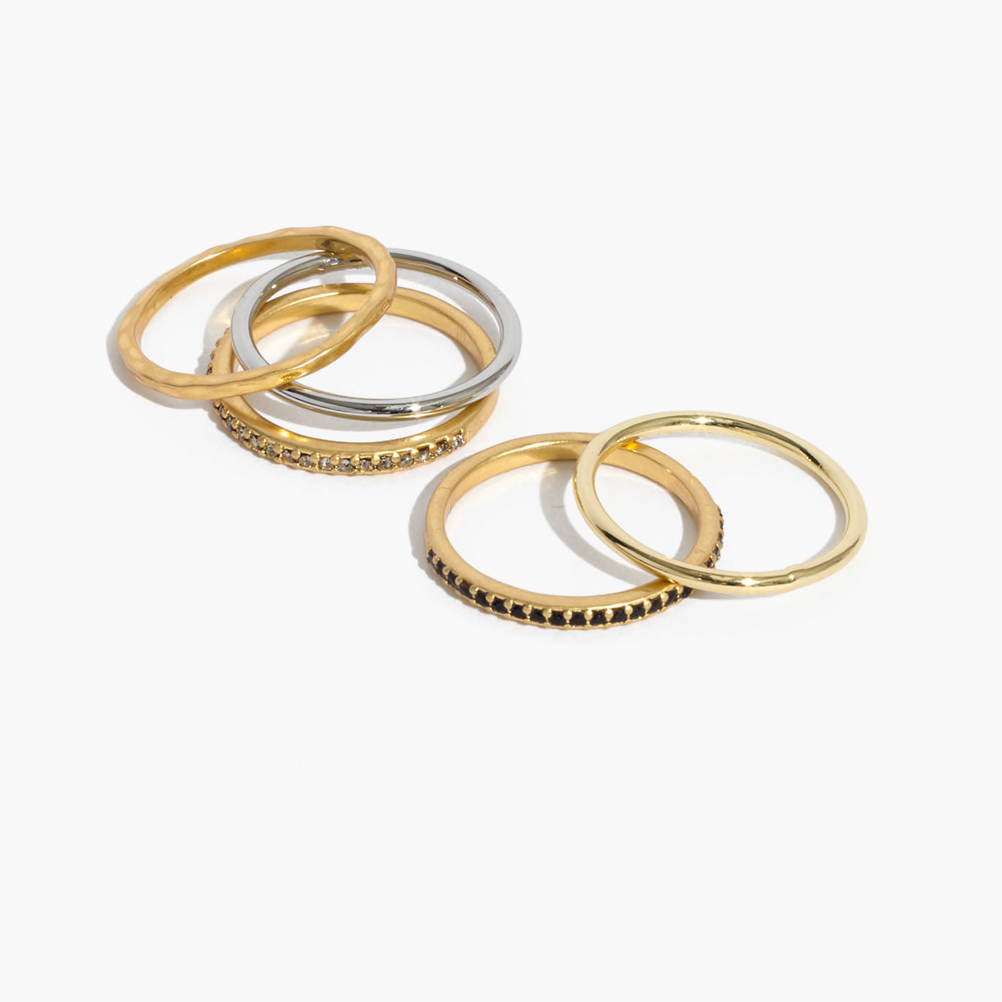 Pave Stackable Ring Set