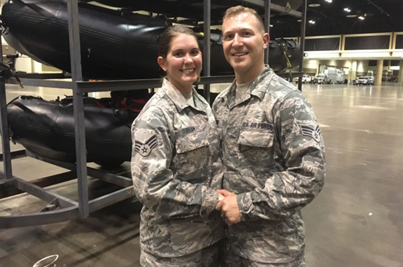 National Guard Couple Wedding