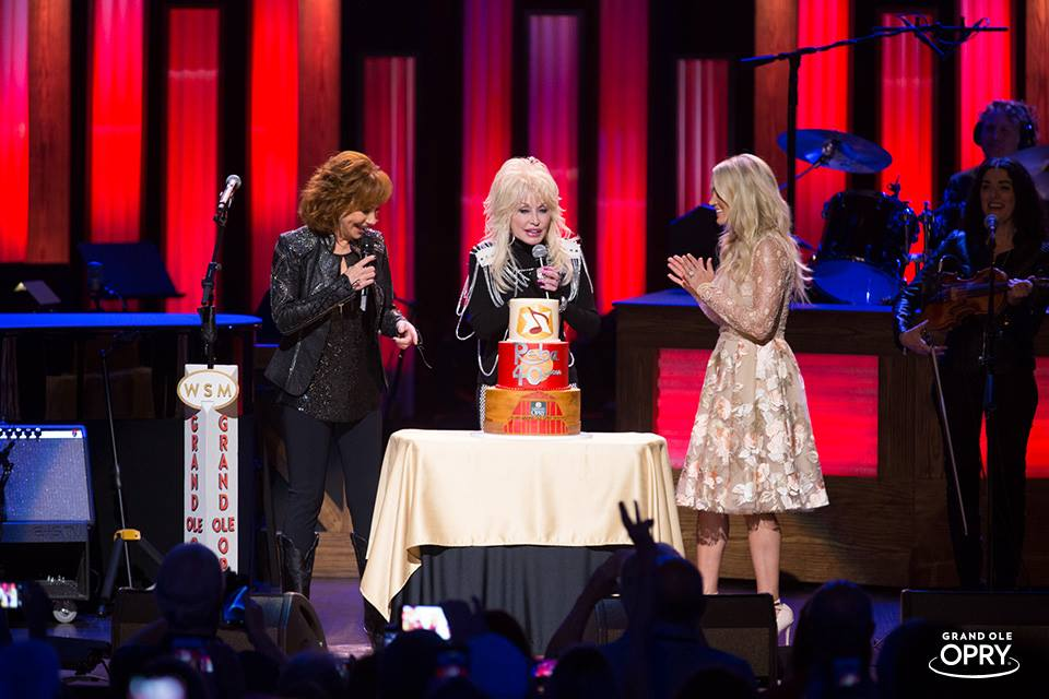 Dolly, Reba and Carrie at the Opry