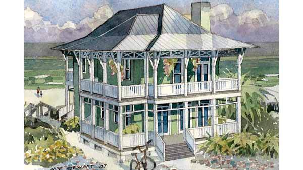 Our best beach house plans for your vacation home for Tidewater style homes