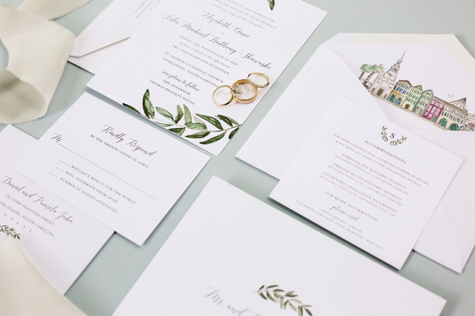 Invitations with an Ode to Charleston