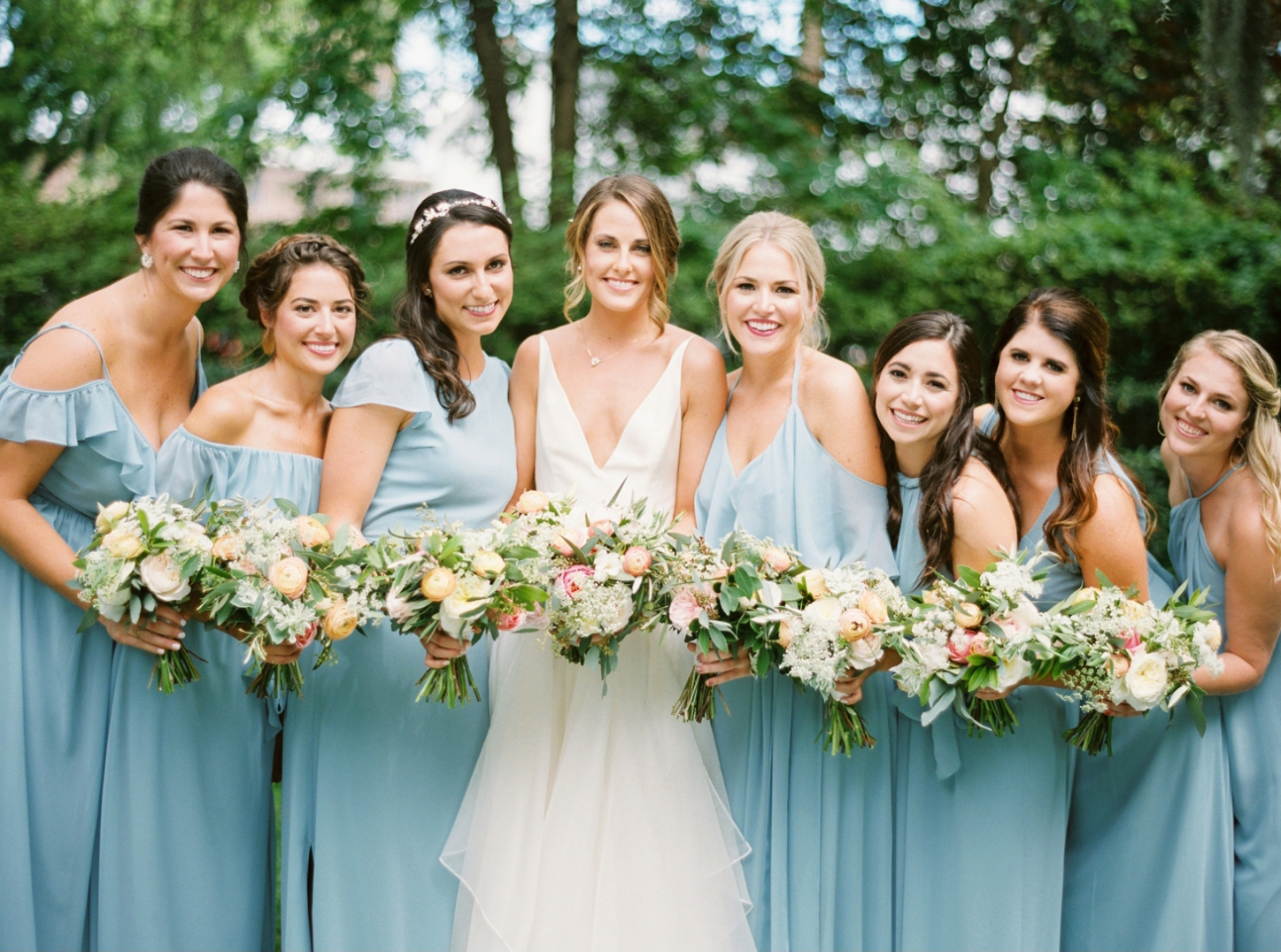 Bridesmaids in Sky Blue