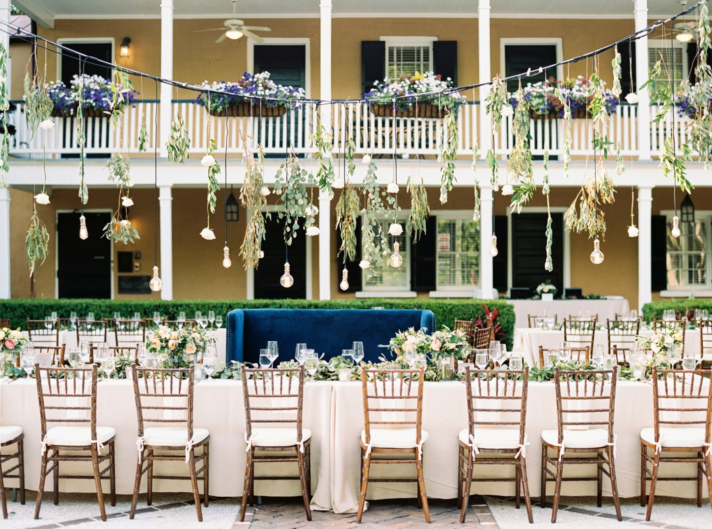 Outdoor Reception with Undeniable Romance