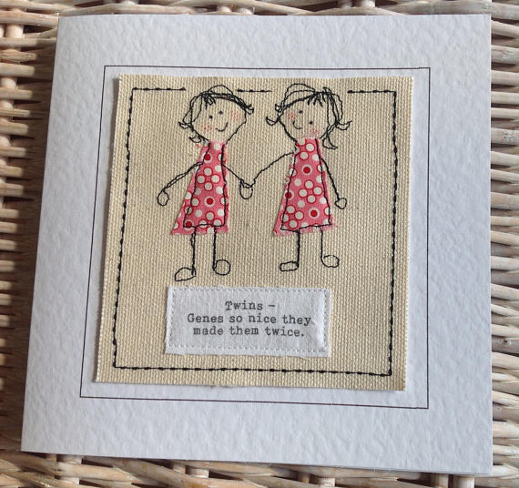 Twin Sister Birthday Card