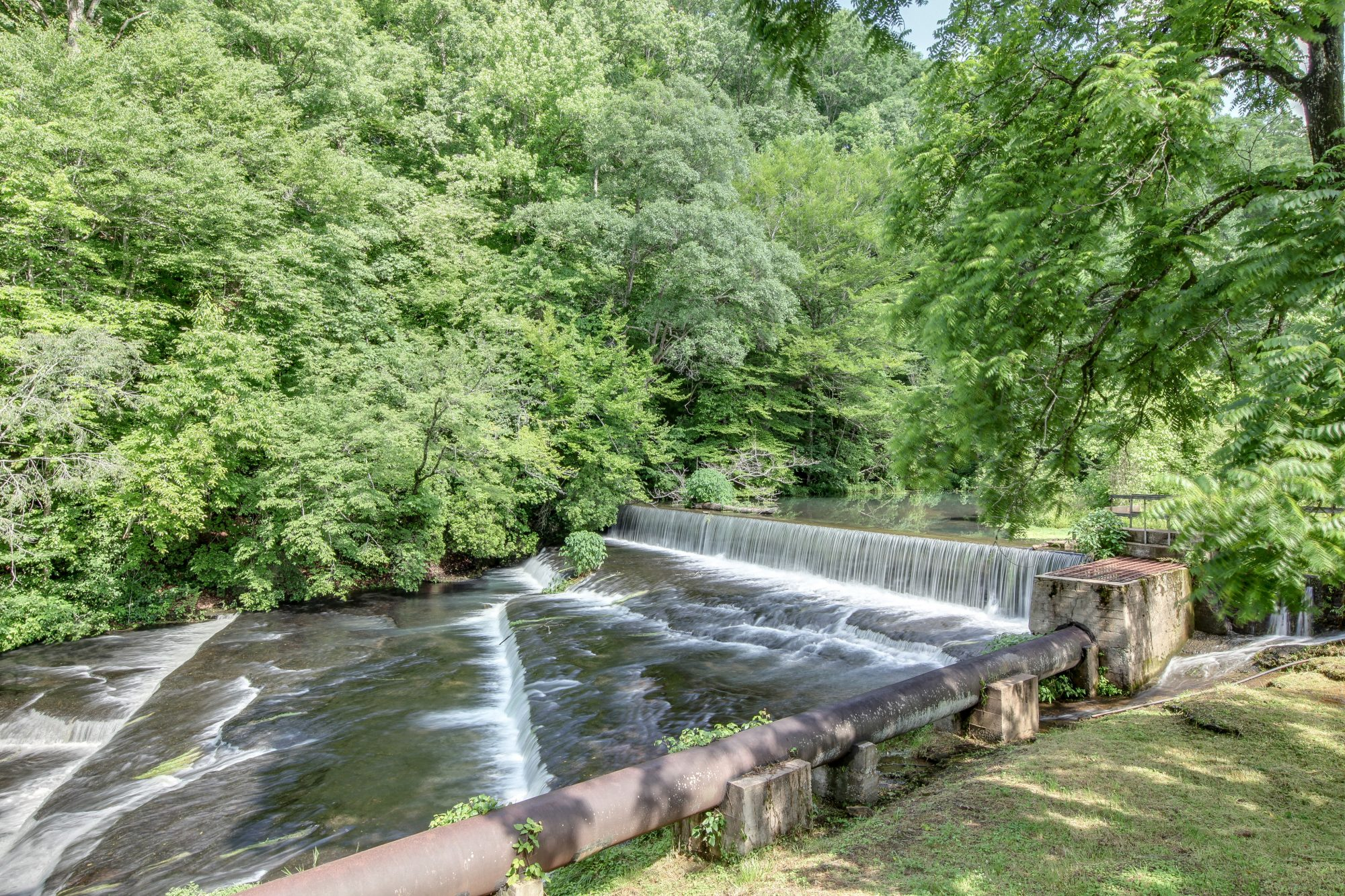 Waterfall at Gristmill Property Fall River Tennessee