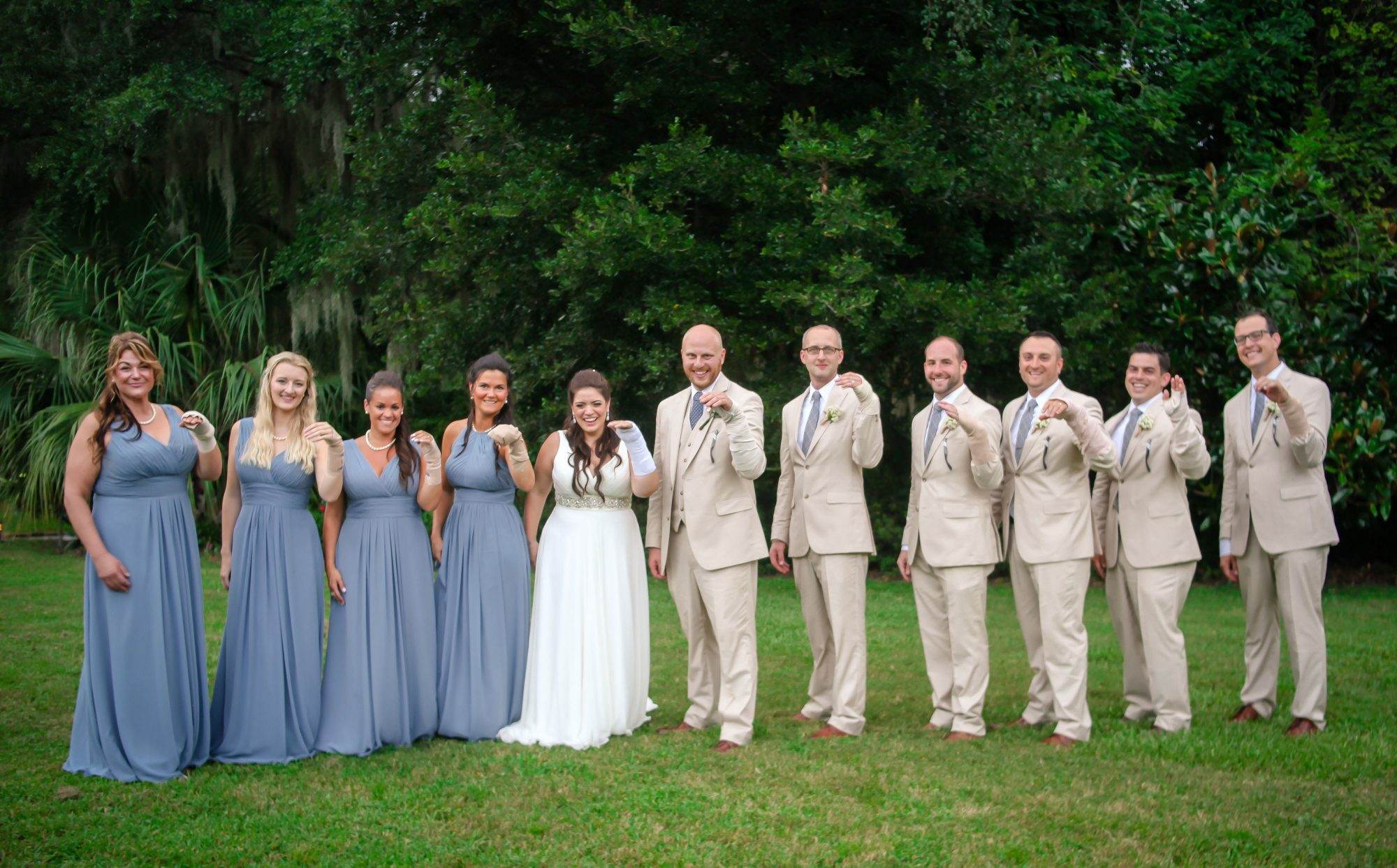Summers Bridal Party Wearing Bandages