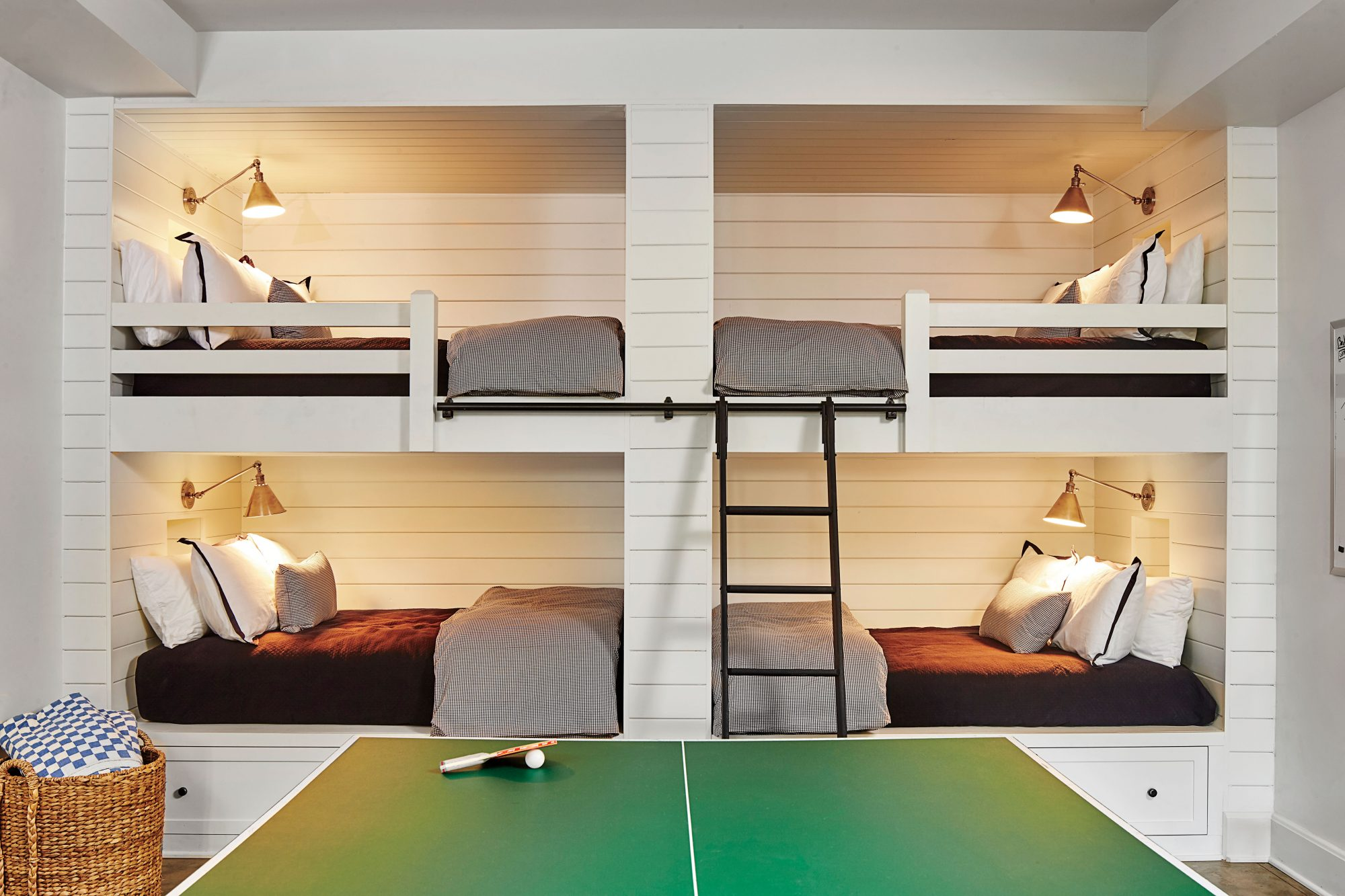 Bunkroom with Ping Pong Table