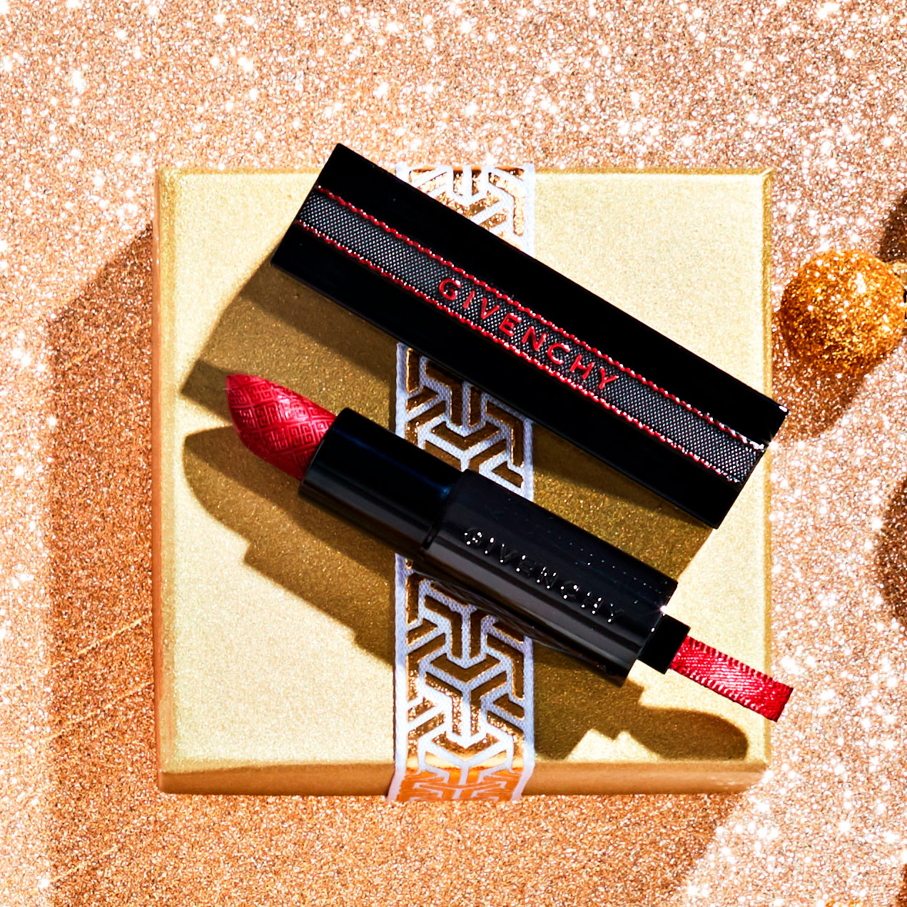 Givenchy Rouge Interdit Limited Edition Satin Lipstick in  No. 27 Bold Red
