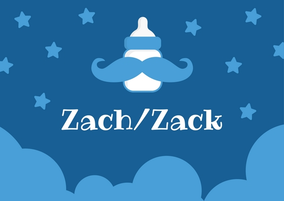 RX_1710_One-Syllable Boy Names_Zach/Zack