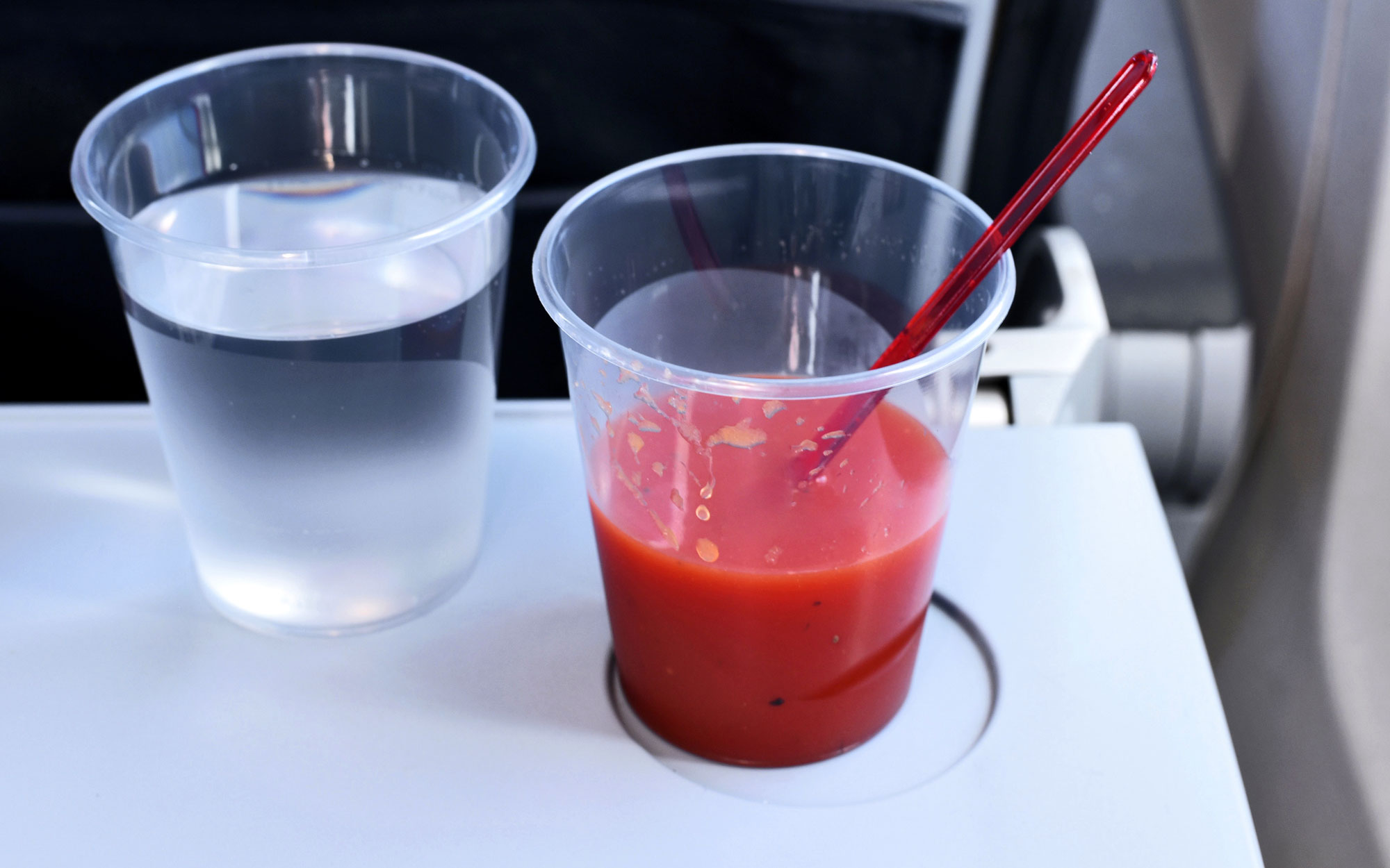 Tomato Juice Tastes Better on Airplane