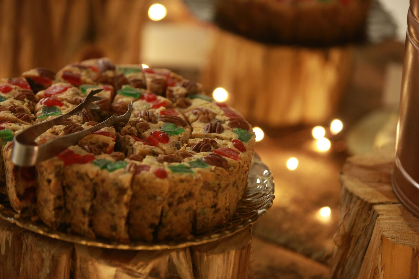 Grab some famous fruitcake made by students attending the College of the Ozarks.