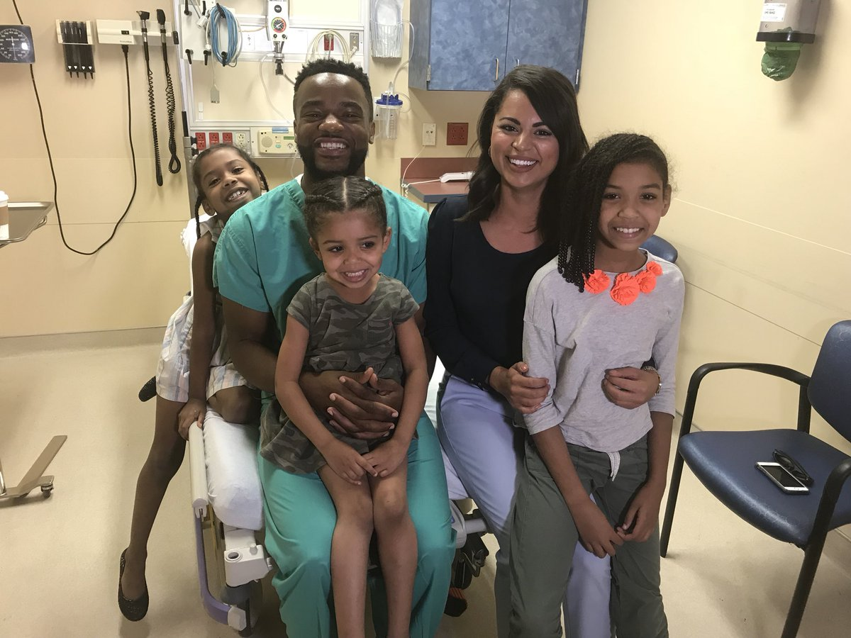 Dancing Florida Doctor with Siblings and Mom of patient