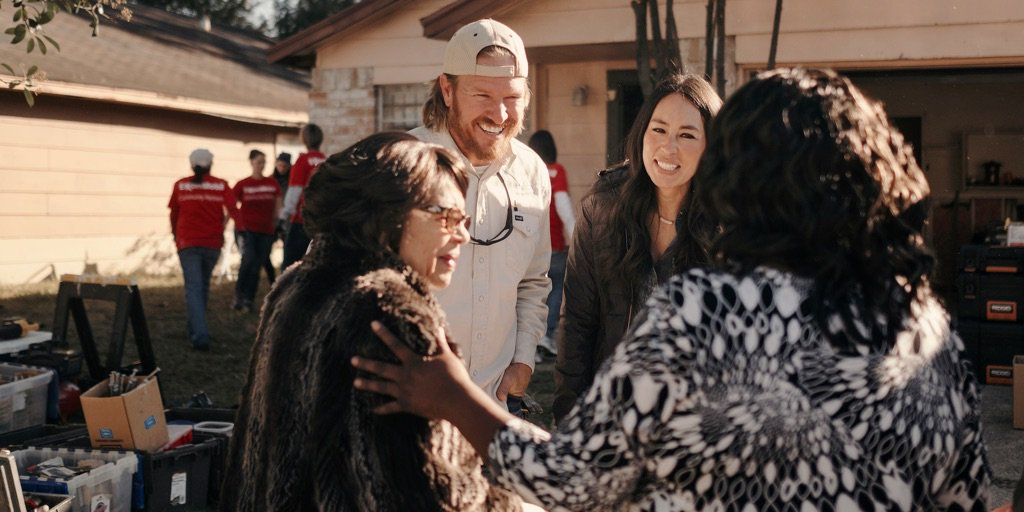 Chip and Joanna Gaines in Houston After Harvey