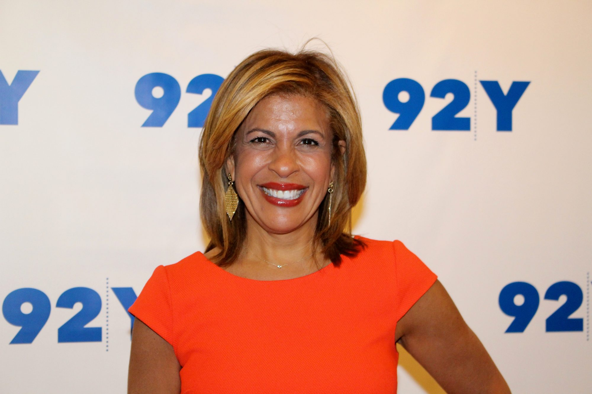 Hoda Kotb in an Orange Dress