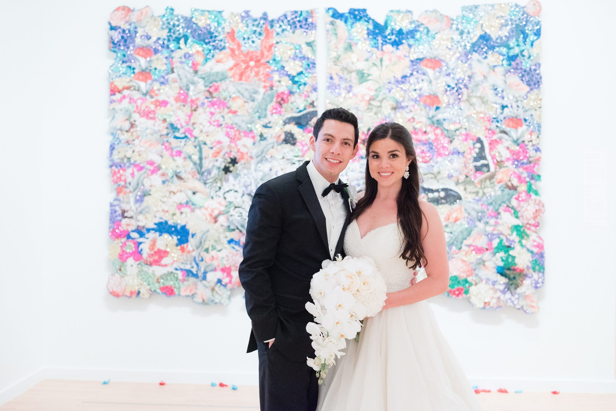The Bride and Groom Art Museum Wedding