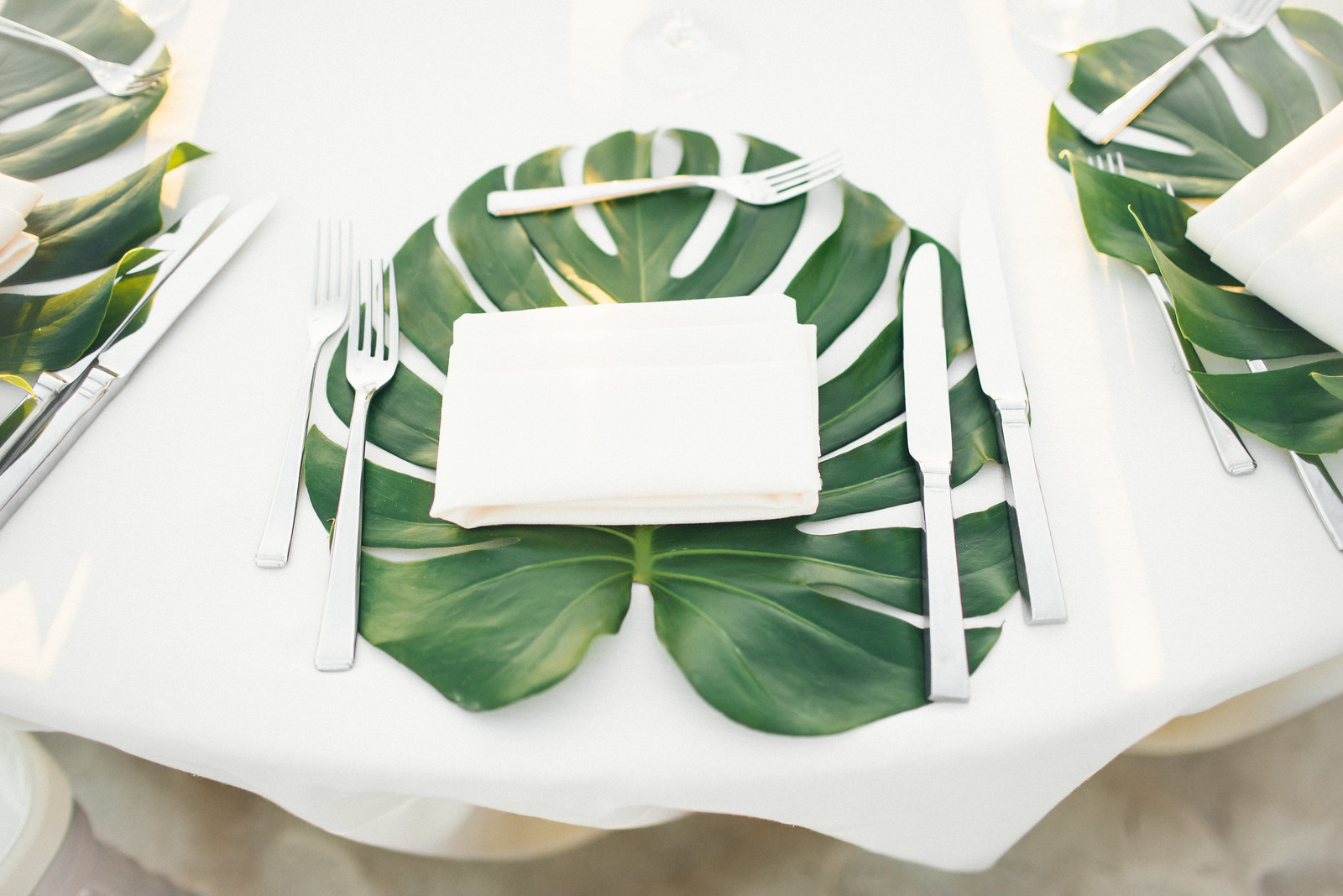 Moogan Palm Leaf Table Setting