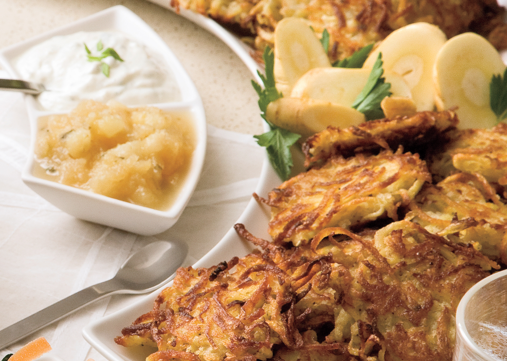 Golden Potato-Parsnip Latkes