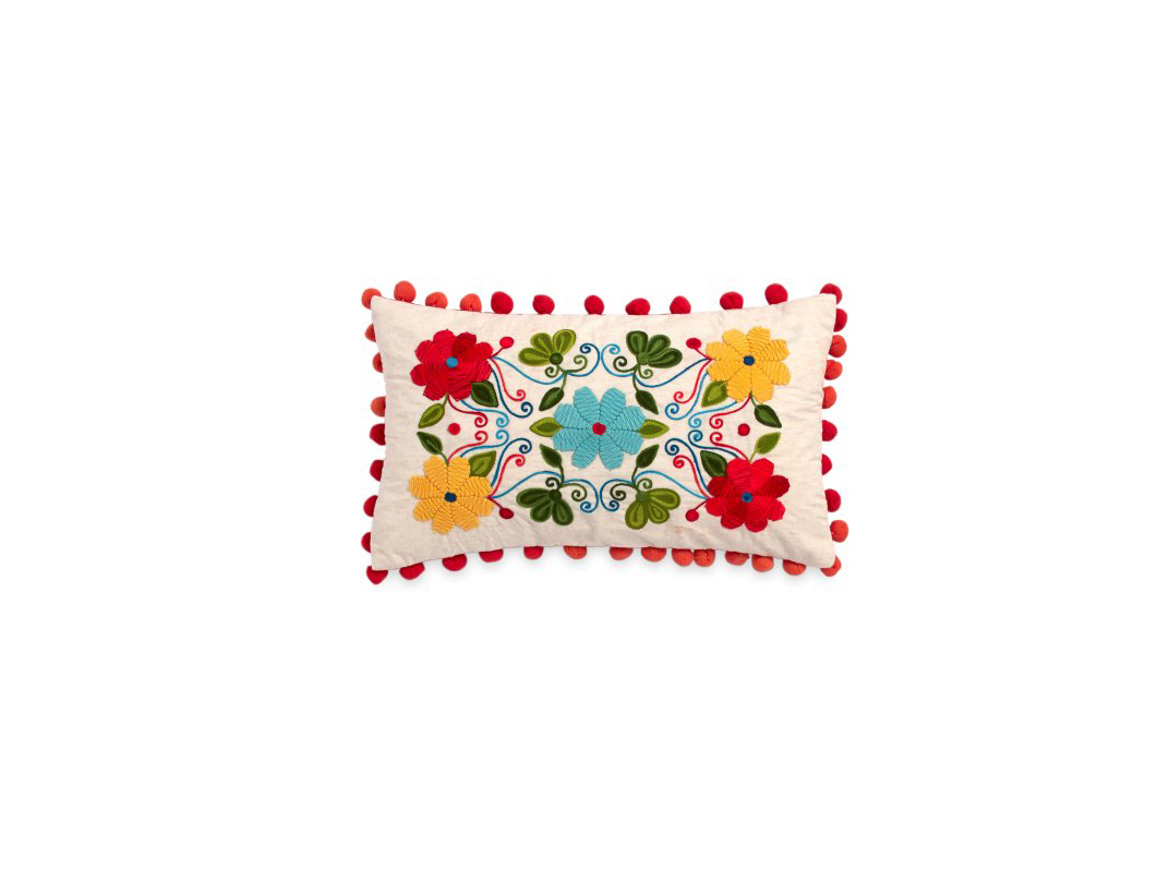 RX_1710 Pioneer Woman Bedding_Floral Embroidery Decorative Pillow