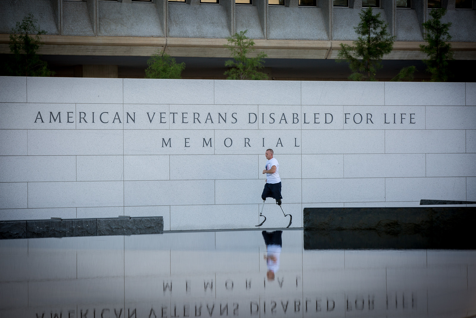 Rob Jones Running by Disabled Veterans Memorial