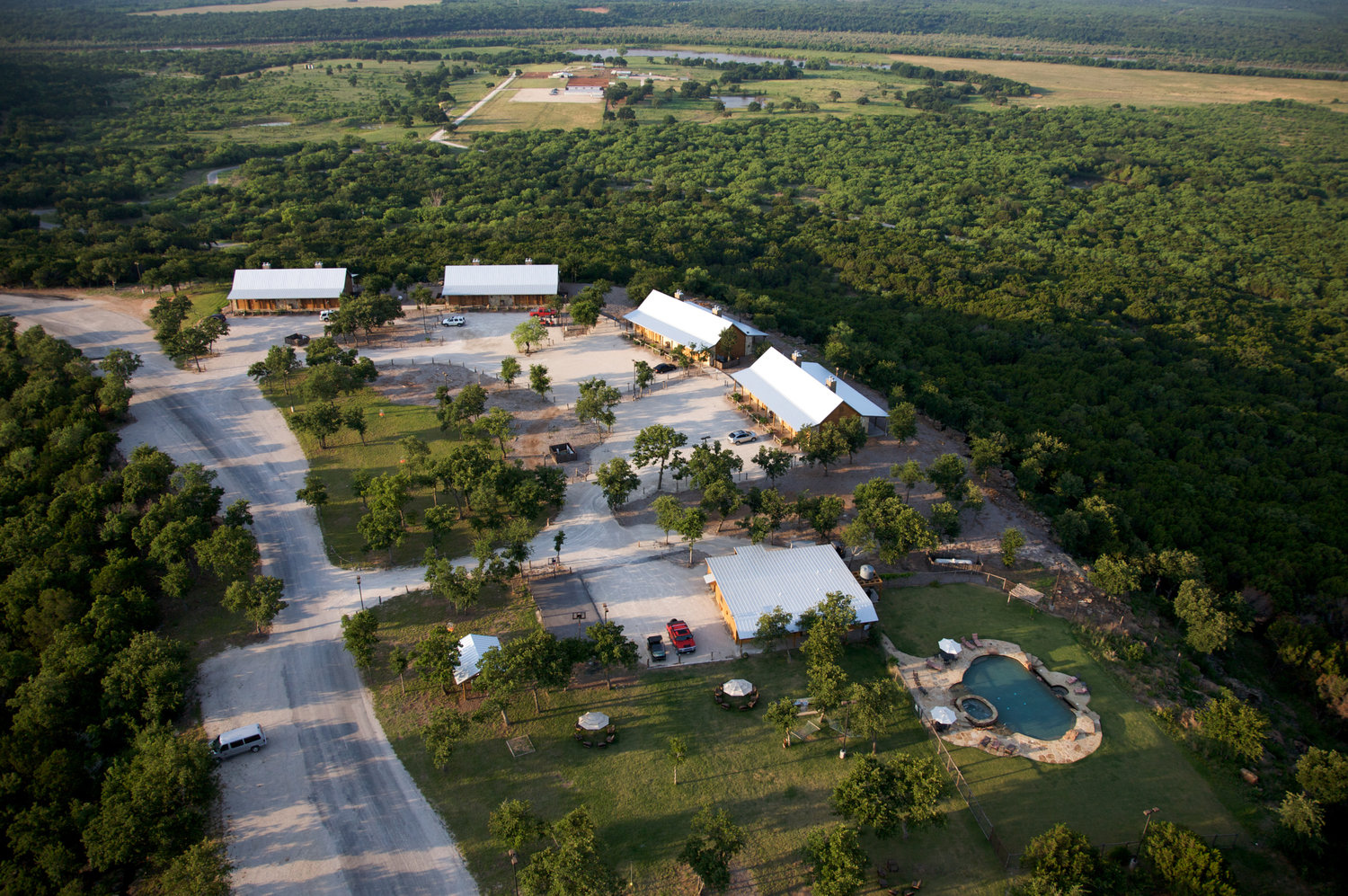 Overhead View of Wildcatter Ranch