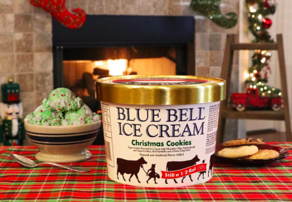 Blue Bell Christmas Ice Cream