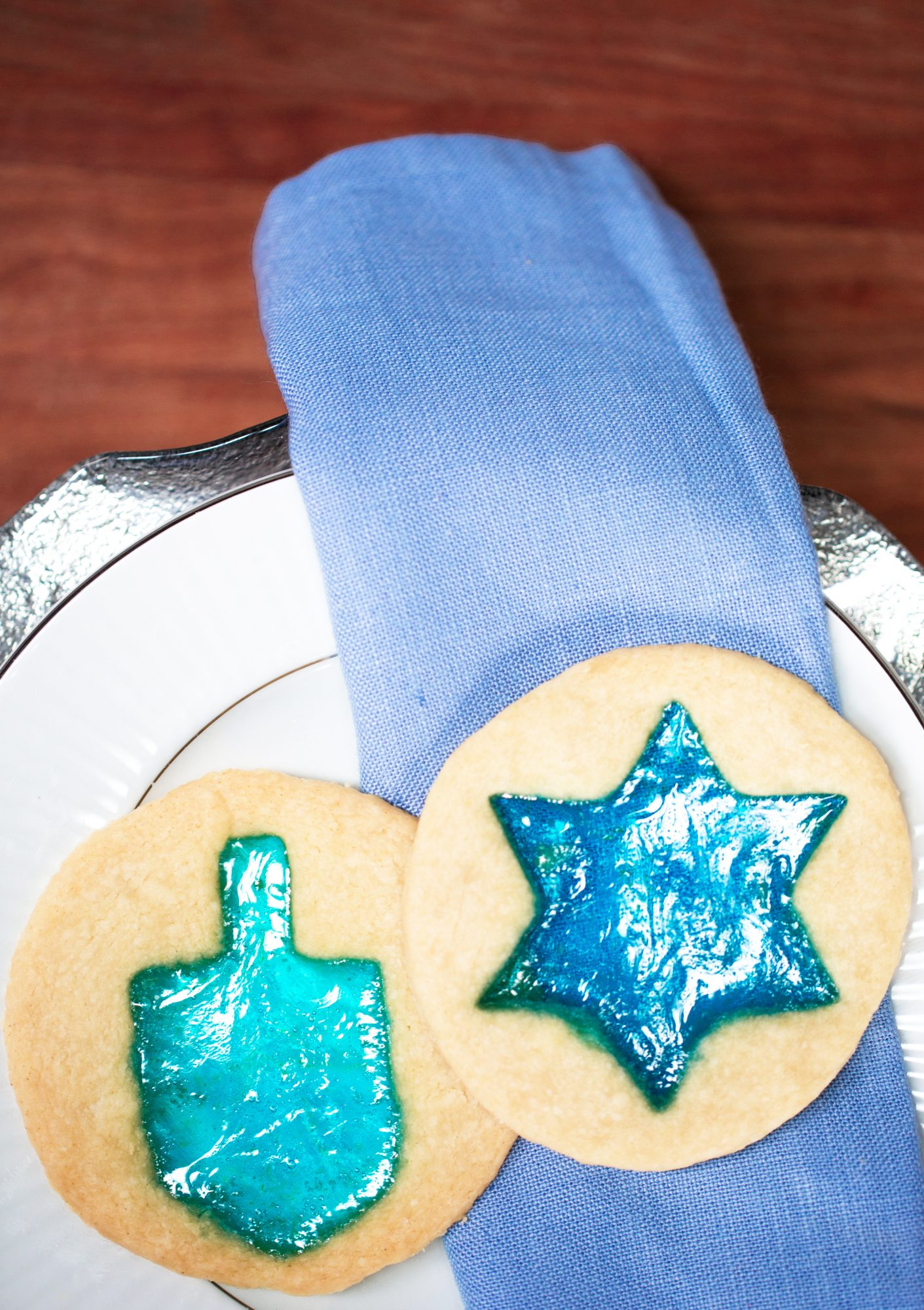 Stained-Glass Hanukkah Cookies