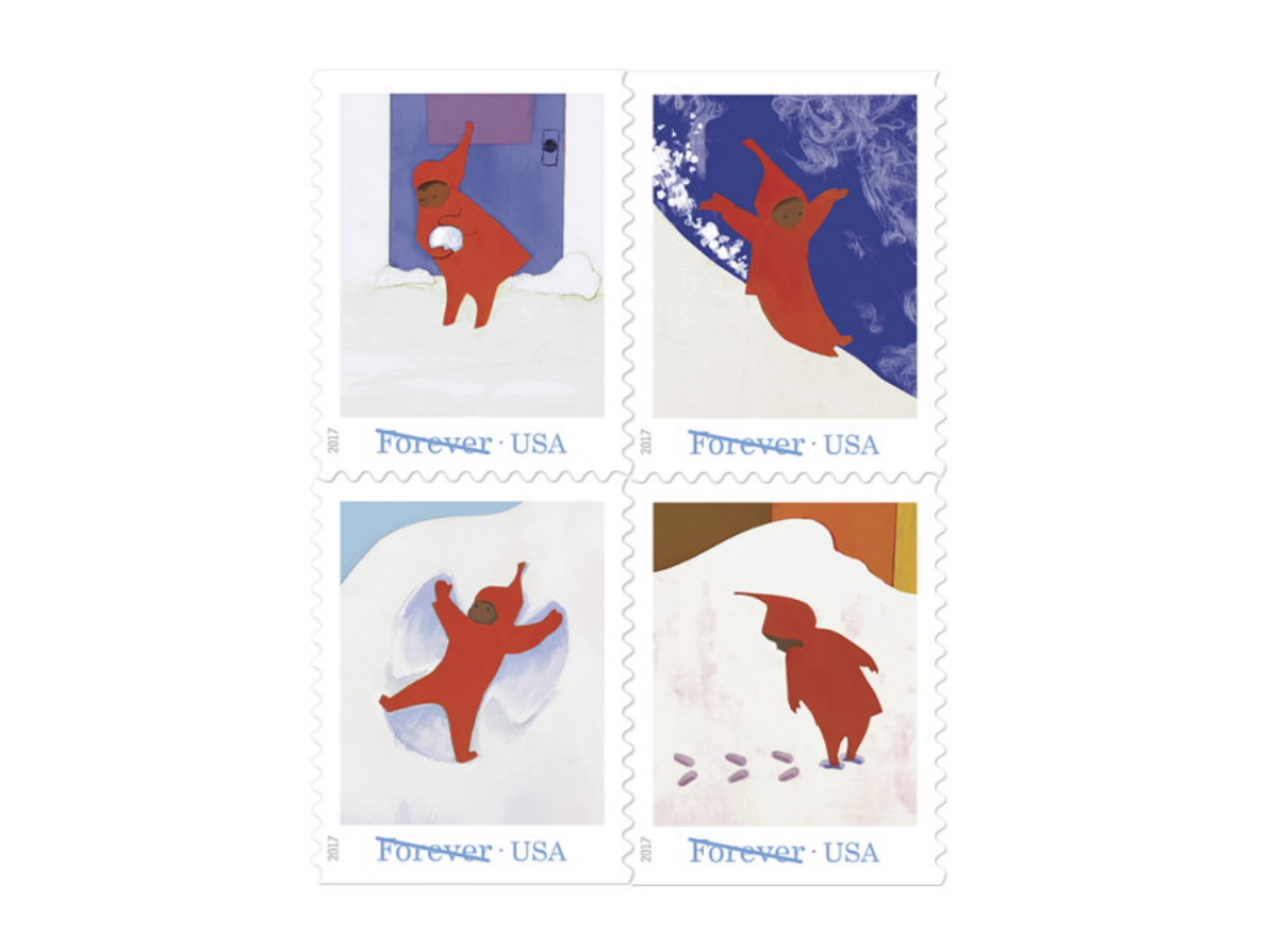 Snowy Day Stamps