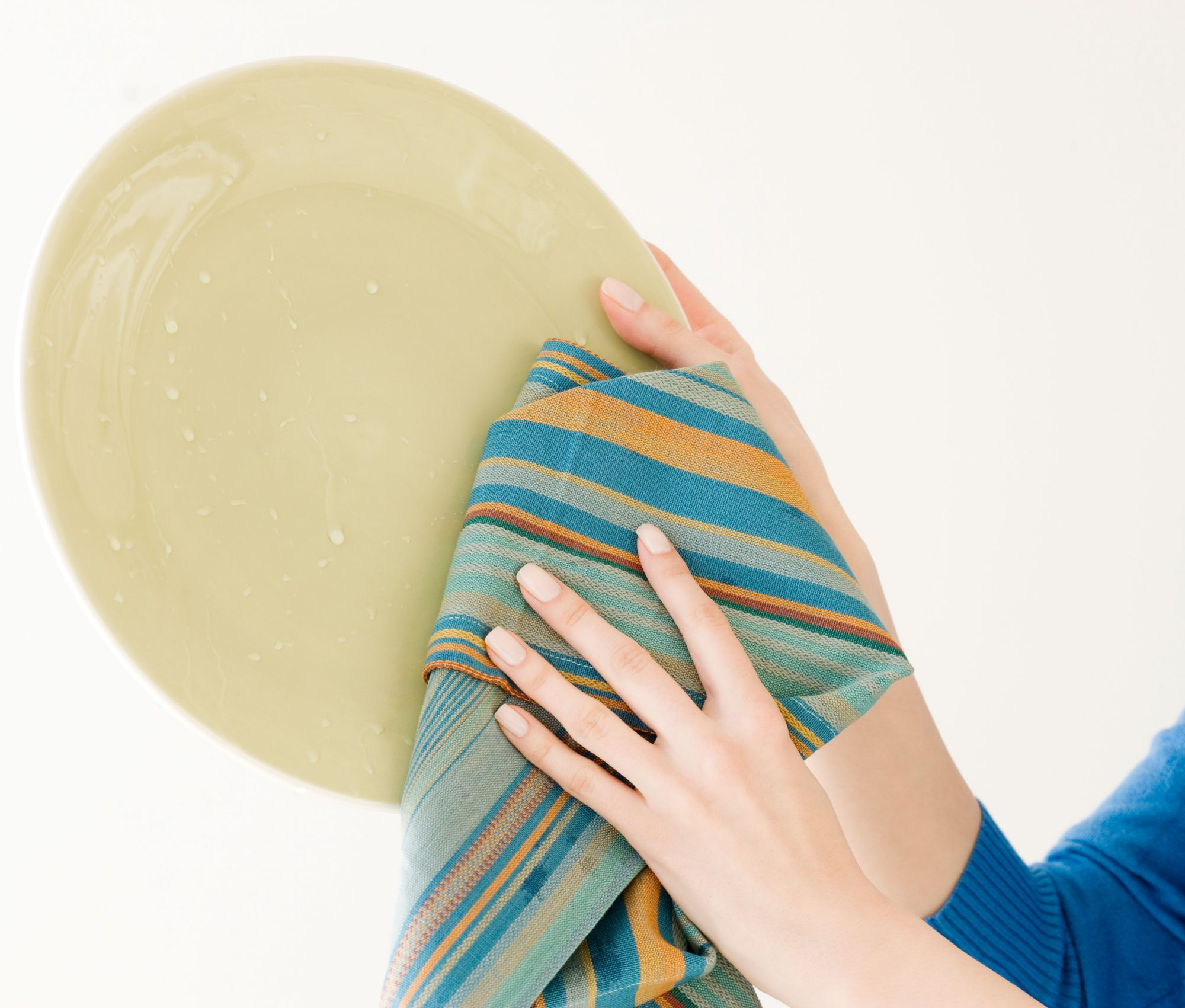 How to wash dirty towels for the kitchen