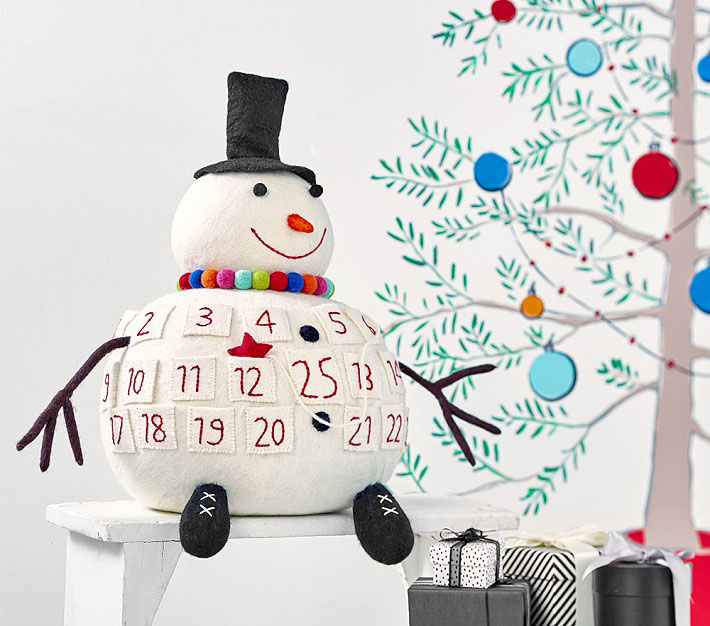 3D Merry & Bright Snowman Advent Calendar