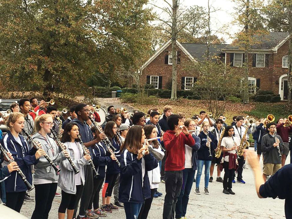 Norcross High School Marching Band Playing for Josh Libman