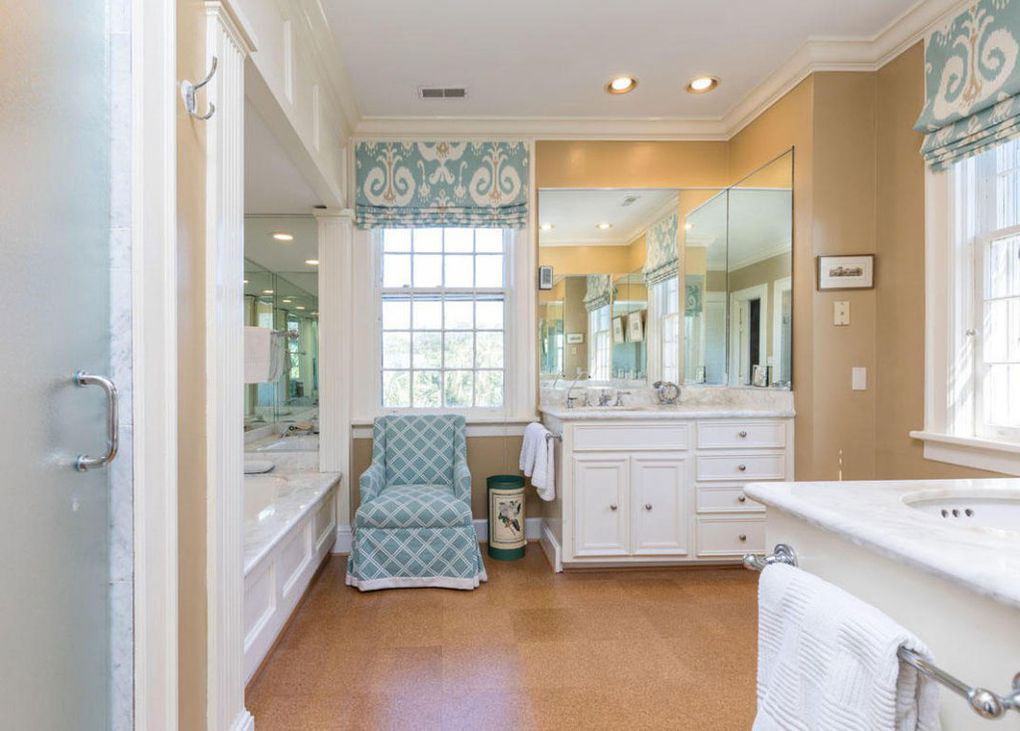 Colonial Brick Home Charleston Master Bathroom. Historic Charleston Battery Home for Sale   Southern Living