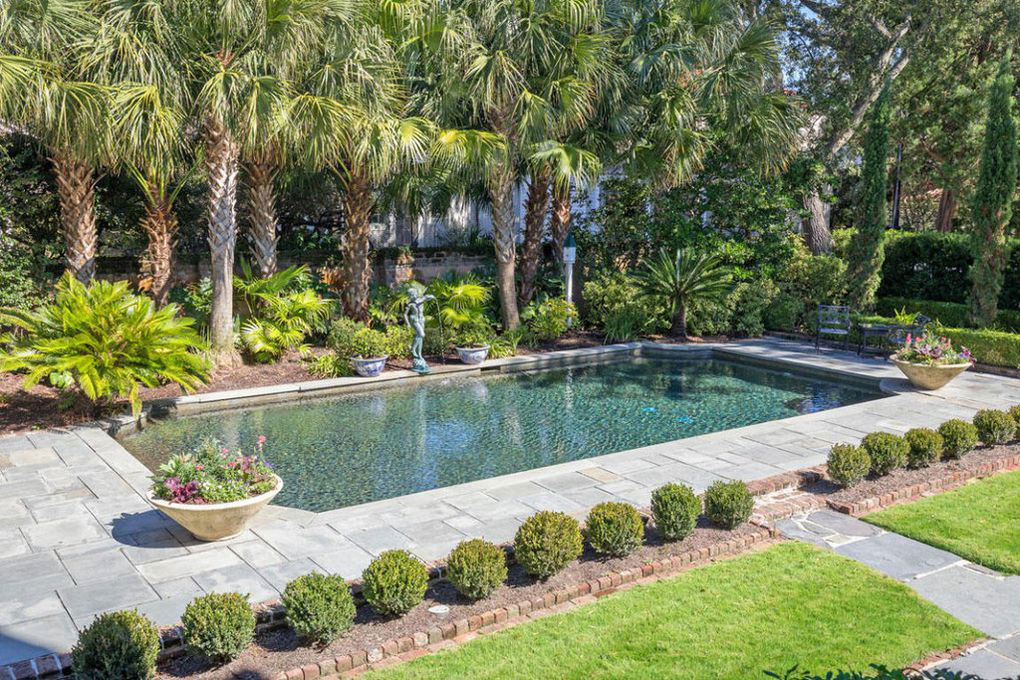 Colonial Brick Home Charleston Pool