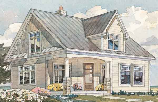 Brunswick Cottage, Plan #595